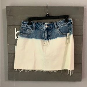 Blue and White Jean Skirt